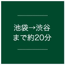 池袋→渋谷まで約20分