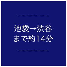 池袋→渋谷まで約14分